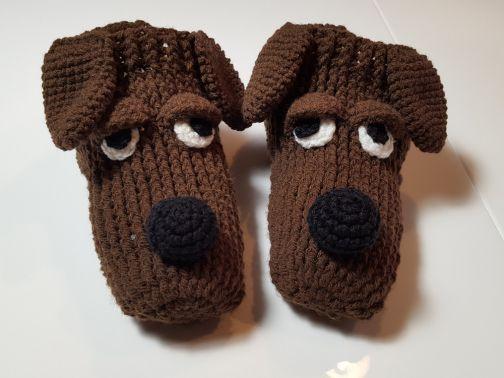 Häkelanleitung Haussocken Hüttenschuhe Hund