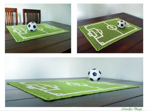 TOR - der Fußball-Tischläufer - Häkelanleitung