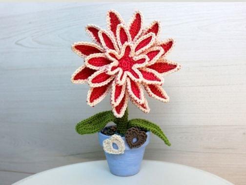 Blume, Häkelanleitung