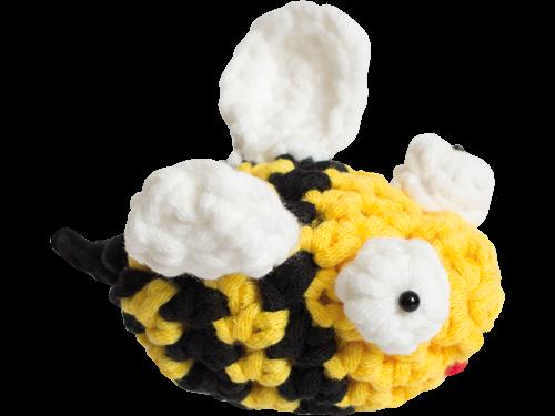 Kostenlose Anleitung zum Häkeln von kleinen Bienen | 375x500