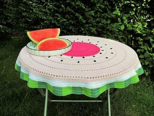 Häkelanleitung Tischdecke Melone