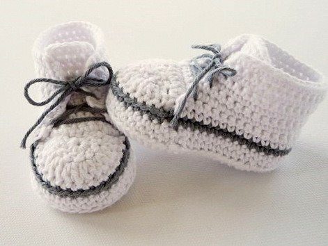 Häkelanleitung - Babyschuhe - Babyturnschuh - No.76
