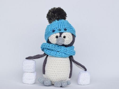 Haekelicious Pinguin mit Mütze und Eiswürfel