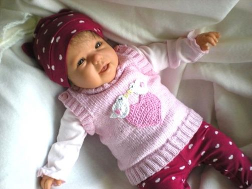 Strickanleitung Pullunder für Babies