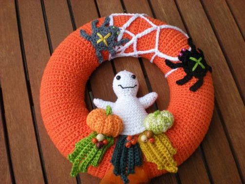 Türkranz Halloween Häkelanleitung