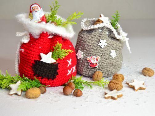 ++ 2er Set Nikolaus- oder Weihnachtssäckchen ++
