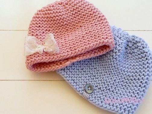 Babymütze stricken schnell und einfach Grobstrick DIY- No.24