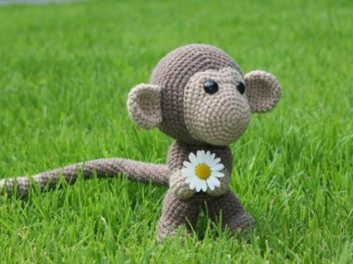 streifgetier - Häkelanleitung Affe Chimp | MyBoshi.net