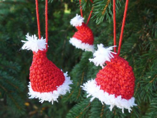 Weihnachtsmannmütze häkeln Tannenbaum, Häkelanleitung