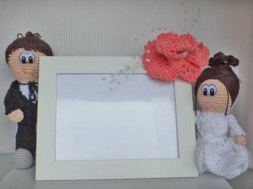 Traumpaar Hochzeit Amigurumi Puppen zum Häkeln