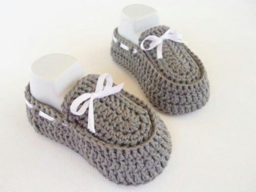 WoolAffair - Baby Mokassins Häkelanleitung DIY - No. 28 | MyBoshi.net