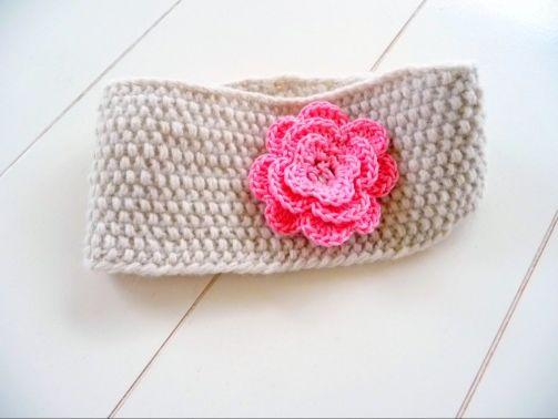 Strickanleitung Stirnband mit Rüschenblume No.30S