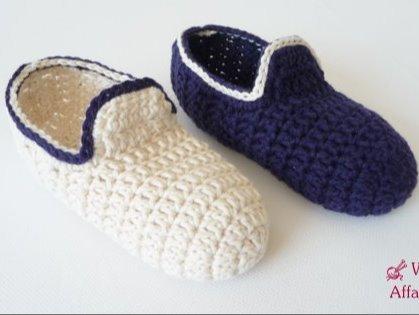 Woolaffair Häkelanleitung Hausschuhe Häkeln Loafers Für Kids