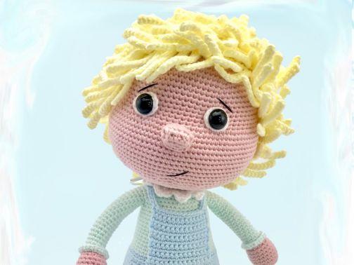 Häkelanleitung Kuschelschnuffelbande Puppe Leno