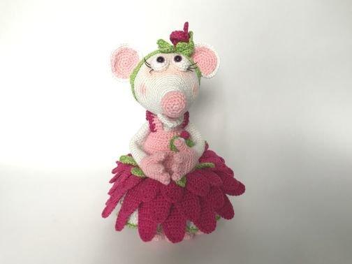Maus Flora, die Blumenfee im Gerbera-Outfit (Komplett-Set)