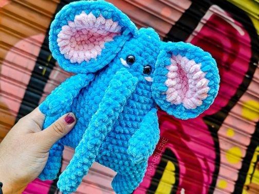 Häkelanleitung Finn, der Elefant