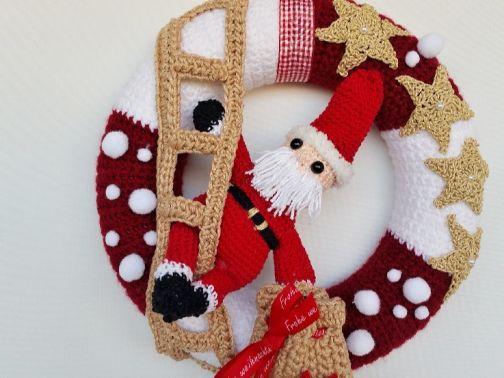 Häkelanleitung Türkranz Christmas Design No.3