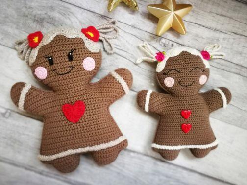 Pfefferkuchenmädchen als dekoration oder Spielzeug häkeln