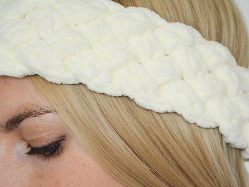 geflochtenes Stirnband Häkelanleitung