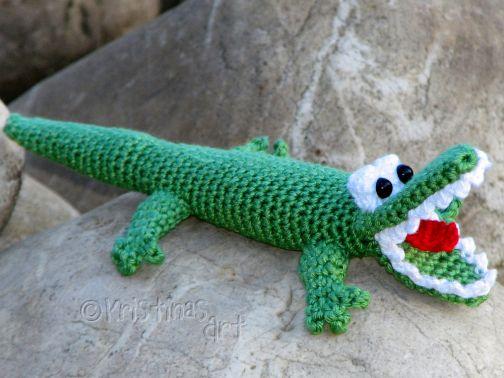 Häkelanleitung Amigurumi Krokodil