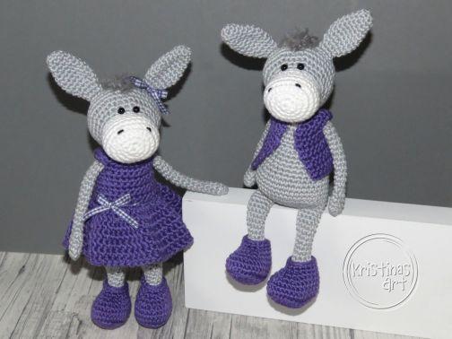 Häkelanleitung Esel Willi und Greta - Amigurumi