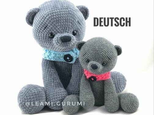 PDF DEUTSCH GROSSER Teddy, Teddybär, Bär, Amigurumi