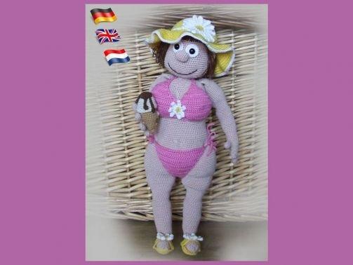 Daisy,Amigurumi pop ,gehaakte poppen patroon, amigurumi Pupp