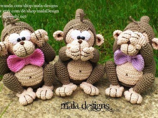 drei kleine Affen