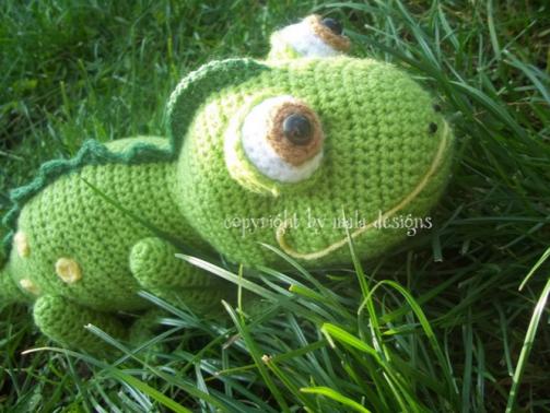 grünes Chamäleon