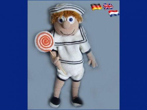 Sailor boy, PDF Häkelanleitung Puppe