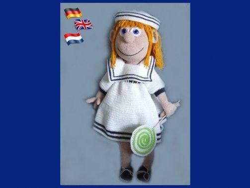 Sailor Girl,  PDF Häkelanleitung Puppe
