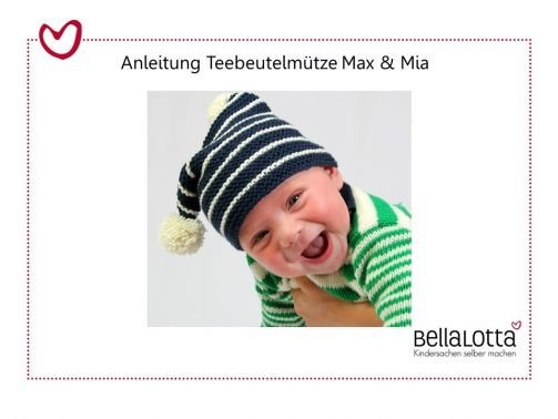 Strickanleitung Teebeutelmütze Max & Mia