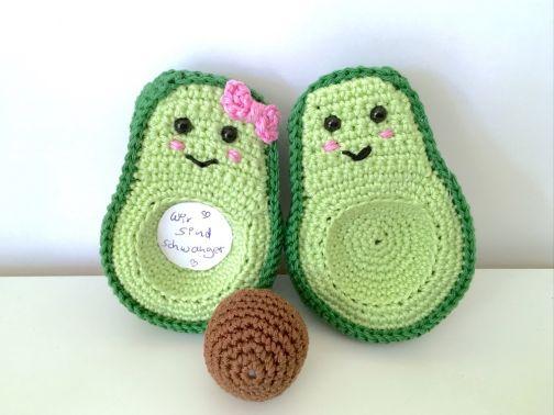 Avocados-Paar (11x8 cm)