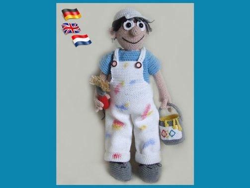 Haus Mahler Bobby, PDF Häkelanleitung Puppe Amigurumi, Häkel