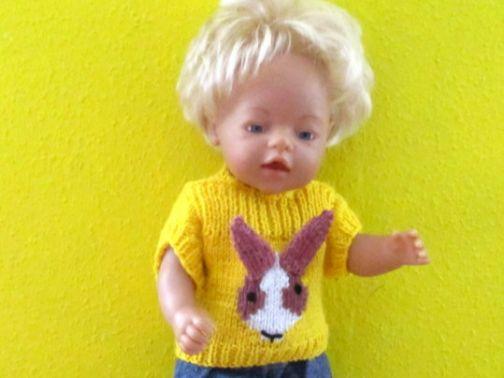 Strickanleitung- Pullover mit Hase