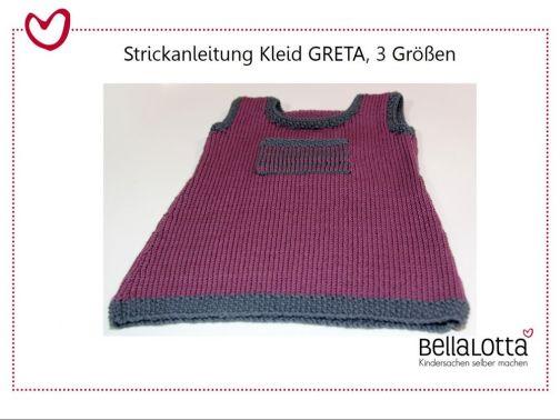 Strickanleitung Kleid Greta 98-128