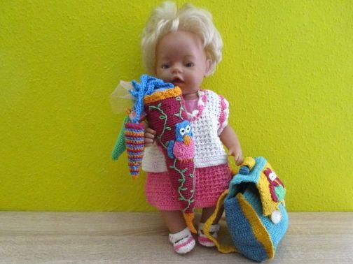 Kleid und Zuckertüte zum Schulanfang