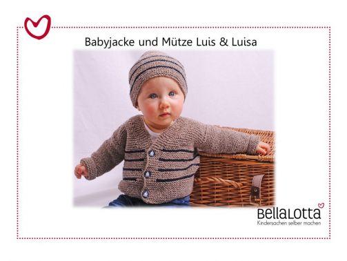 Strickanleitung Babyjacke in 3 Größen von 3-24 Monaten