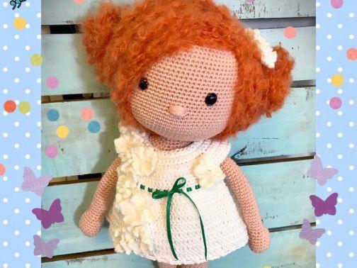 Häkelanleitung Kuschelschnuffelbande Puppe Amelie