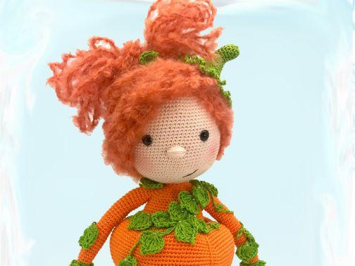 Häkelanleitung Kuschelschnuffelbande Puppe Pumpkin