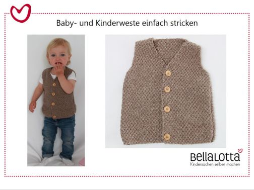 Babyweste Flora & Florian, easy zu stricken, Youtube Video