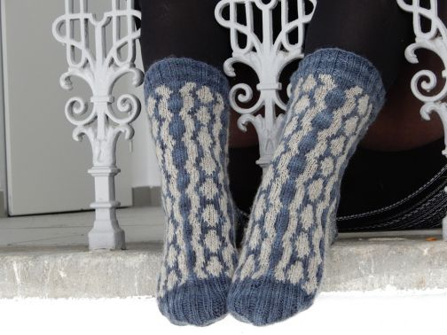 "Strickanleitung Socken ""Moonlit Rivers"""