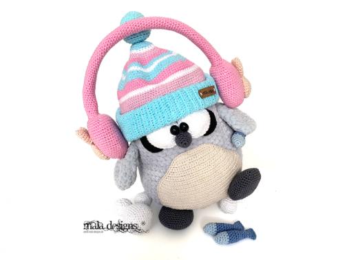 Pinguin mit Ohrenschützer