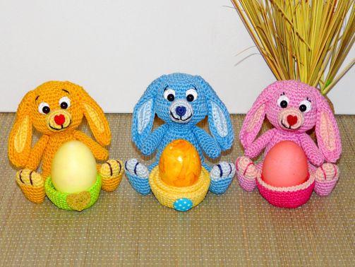 Häkelanleitung Häschen Eierbecher