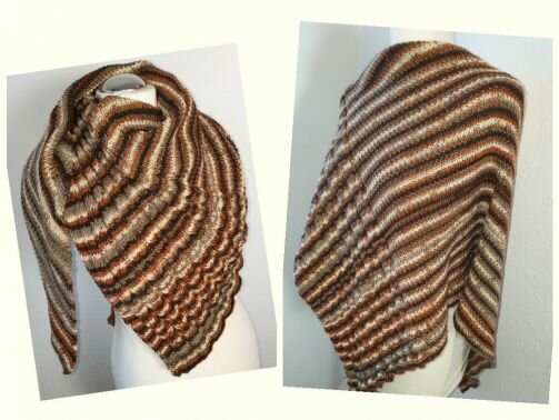152 Strickanleitung symmetrisches Tuch  Zopf  Perlmuster