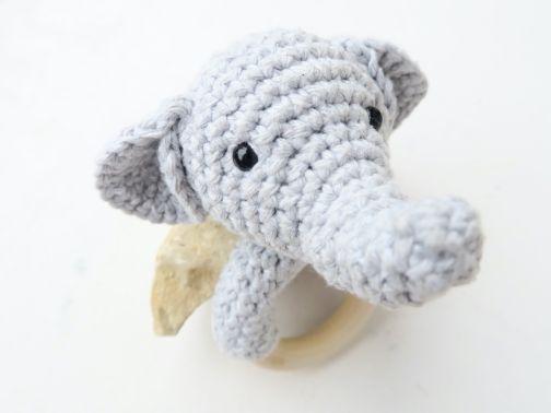 Elefant Beißring & Rassel