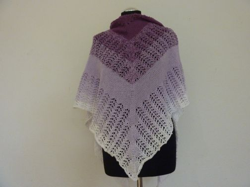 "Strickanleitung - Tuch ""Purple"""