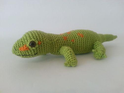 Häkelanleitung - Gary Gecko