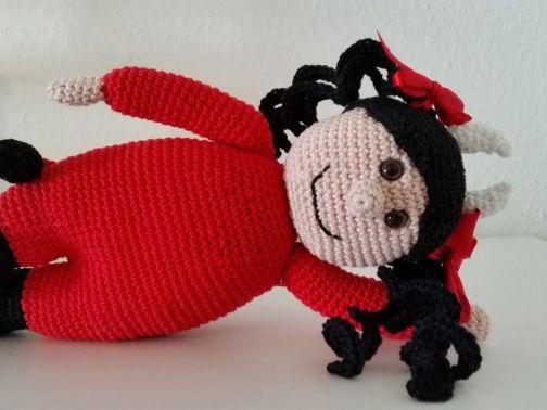 Verliebte Teufel Amigurumi Häkelanleitung (Große Puppen zum ... | 378x504