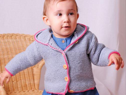 Kapuzenjacke Zipfelzwerg in 2 Farben für Baby und Kleinkind